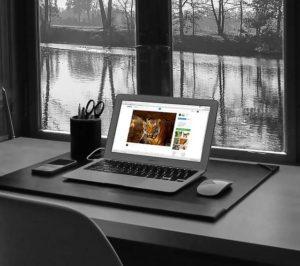 image of open laptop on webpage