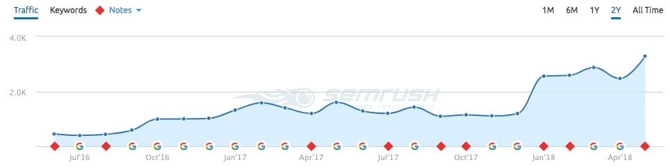 graph showing seo success